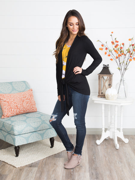 Main Street Cardigan - Black