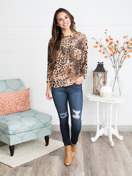 Own Your Wild Dolman Top - Multi
