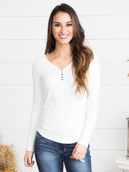 Your New Favorite Henley - Ivory
