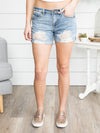 Shiloh Distressed Shorts - Light Wash
