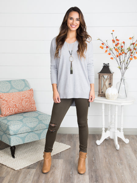 Love In A Sweater - Heather Grey