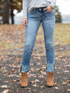 Layla Cuffed Skinny Jean - Light Wash