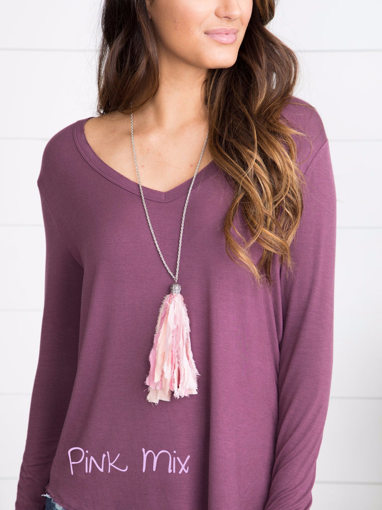 Lyla Tassel Necklace - Multiple Colors