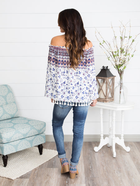 Kailey Off-Shoulder Top - Off White