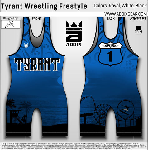 *Tyrant Freestyle Singlet (Blue & Red Combo Deal)