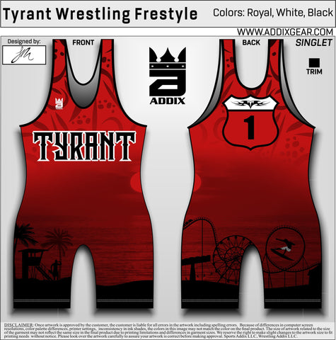 *Tyrant Freestyle Singlet (Red)
