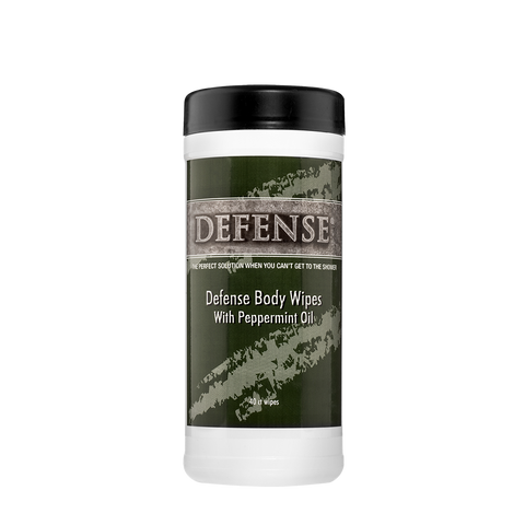 Defense Body Wipes Peppermint- 2 Pack (former packaging design)