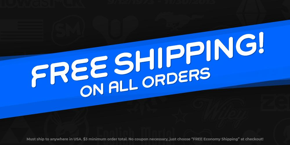 Free Shipping on orders $10+