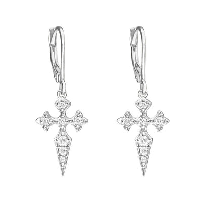 Boucles d'oreilles Blood diamond