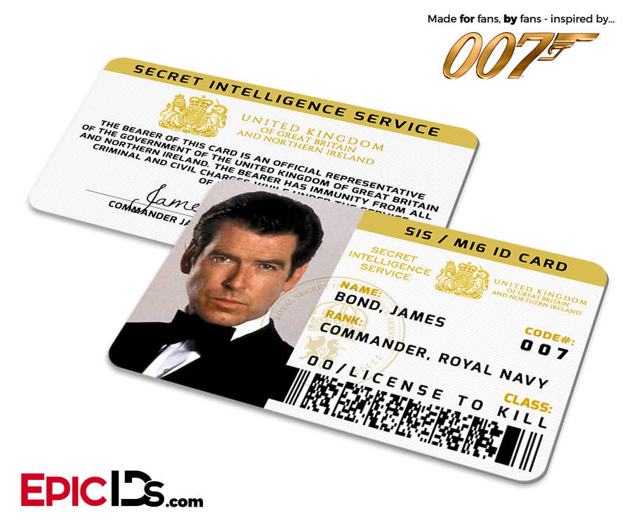 James Bond 007  Inspired (Pierce Brosnan) Secret Intelligence Service ID