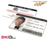 James Bond 007  Inspired (Roger Moore) Secret Intelligence Service ID