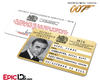 James Bond 007  Inspired (Sean Connery) Secret Intelligence Service ID