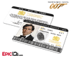 James Bond 007  Inspired (Timothy Dalton) Secret Intelligence Service ID