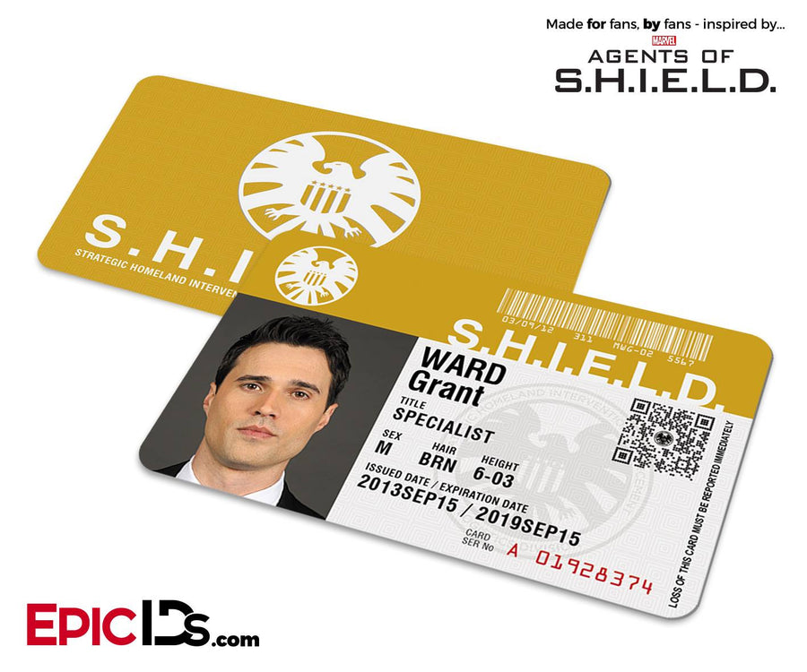 Agents of SHIELD Inspired Classic SHIELD Agent ID - Grant Ward