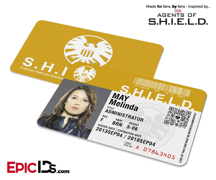 Agents of SHIELD Inspired Classic SHIELD Agent ID - Melinda May