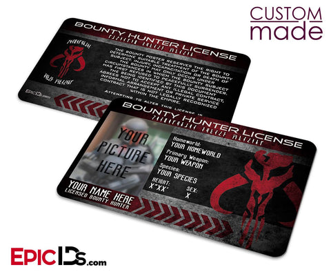 Star Wars Inspired - Bounty Hunter License [Photo Personalized]
