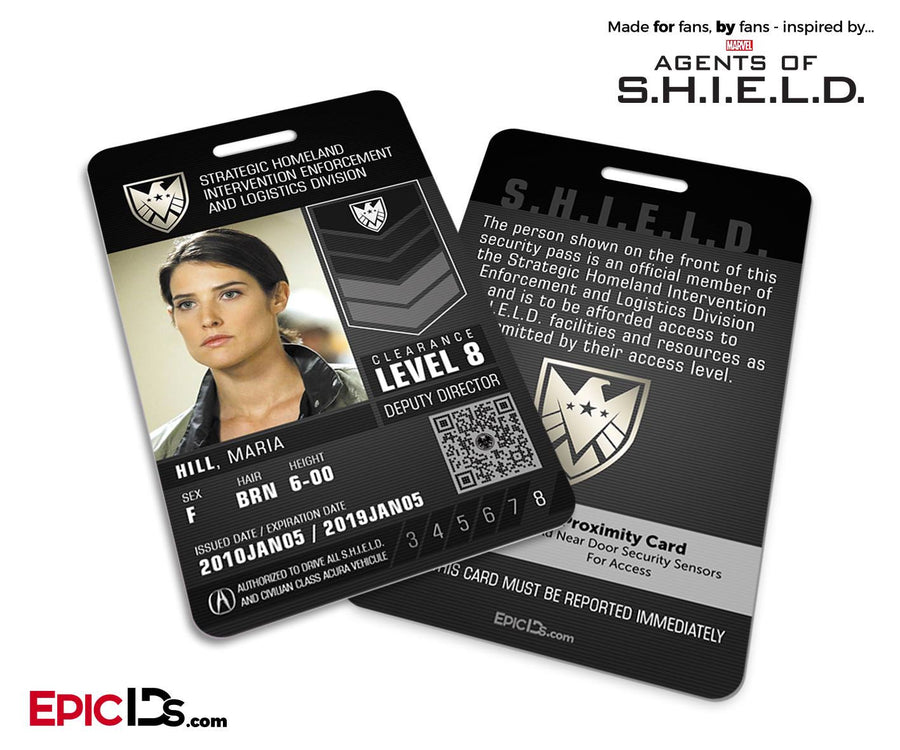 Agents of SHIELD Inspired 'Real' SHIELD Agent ID - Maria Hill