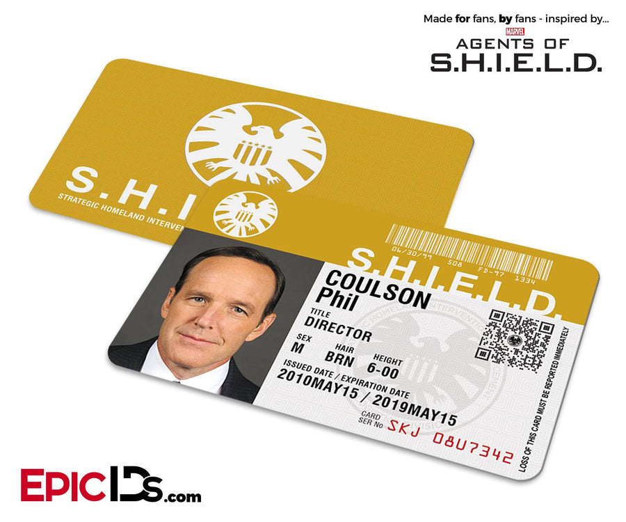 Agents of SHIELD Inspired Classic SHIELD Agent ID - Phil Coulson