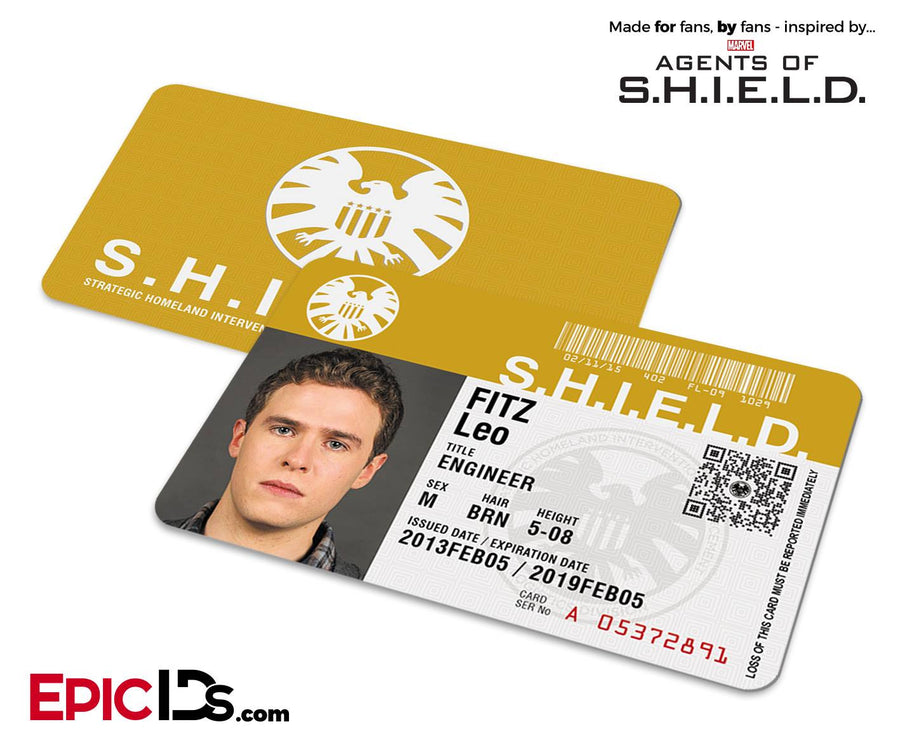 Agents of SHIELD Inspired Classic SHIELD Agent ID - Leo Fitz