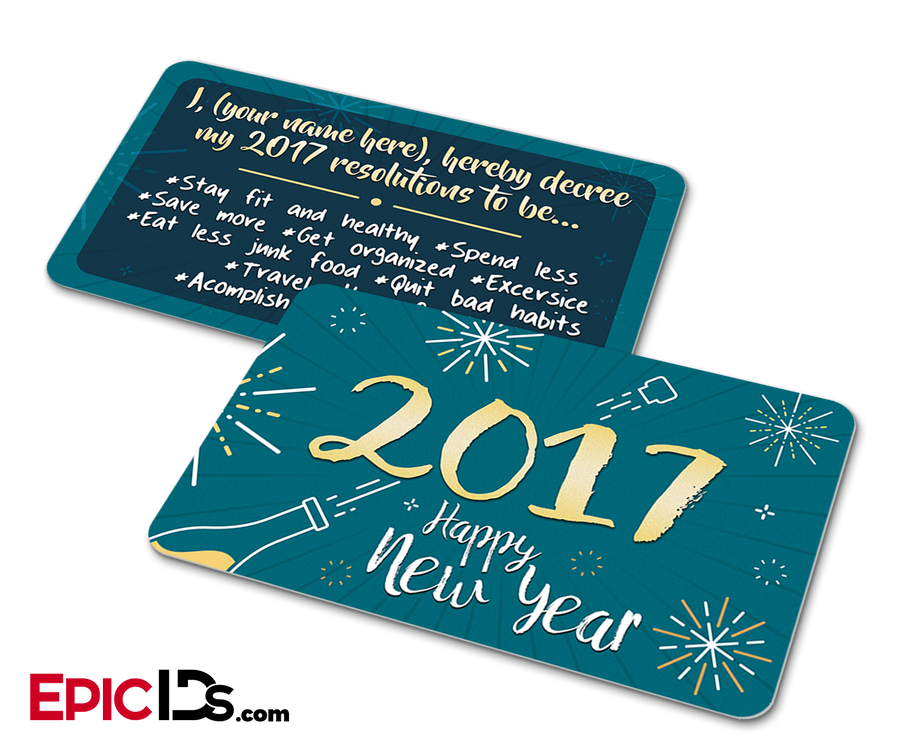 New Years Resolution Affirmation Card [Personalized]