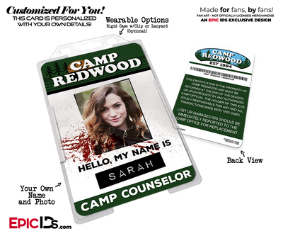 Camp Redwood 'American Horror Story' Camp Counselor Cosplay Name Badge [Custom / Photo Personalized]