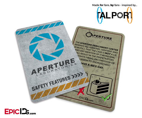 "Portal Inspired Aperture Labs ""The Cake Is NOT A Lie"" Card"