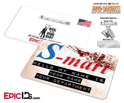 S-Mart 'Army of Darkness' Cosplay Replica Name Badge [Personalized]