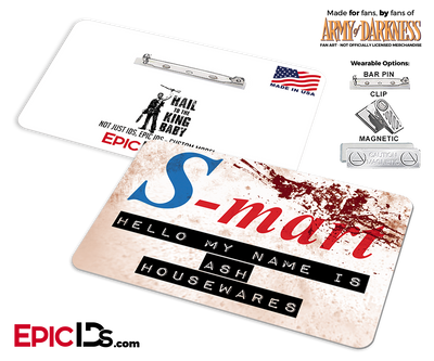 S-Mart Ash Williams 'Army of Darkness' Cosplay Replica Name Badge