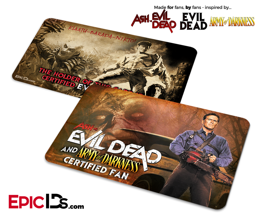 Ash vs Evil Dead & Army of Darkness Certified Fan Card