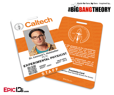 The Big Bang Theory Inspired Caltech Staff ID - Leonard Hofstadter