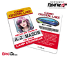 Camp Crystal Lake 'Friday the 13th - The Game' Camp Counselor Cosplay Name Badge - A.J. Mason (Rocker Chick)
