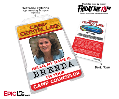 Camp Crystal Lake 'Friday the 13th' Camp Counselor Cosplay Name Badge [Movie Characters]