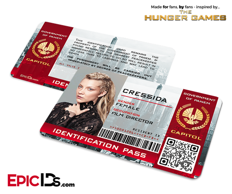 The Hunger Games Inspired Capitol Identification Card - Cressida