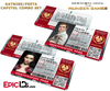 The Hunger Games Inspired Capitol Identification Card - Katniss & Peeta Couples Set