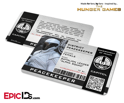The Hunger Games Inspired Peacekeeper Security ID