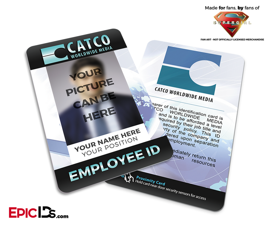 CATCO Worldwide Media 'Supergirl' Employee ID [Photo Personalized]