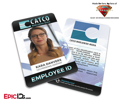 CATCO Worldwide Media 'Supergirl' Kara Danvers Employee ID