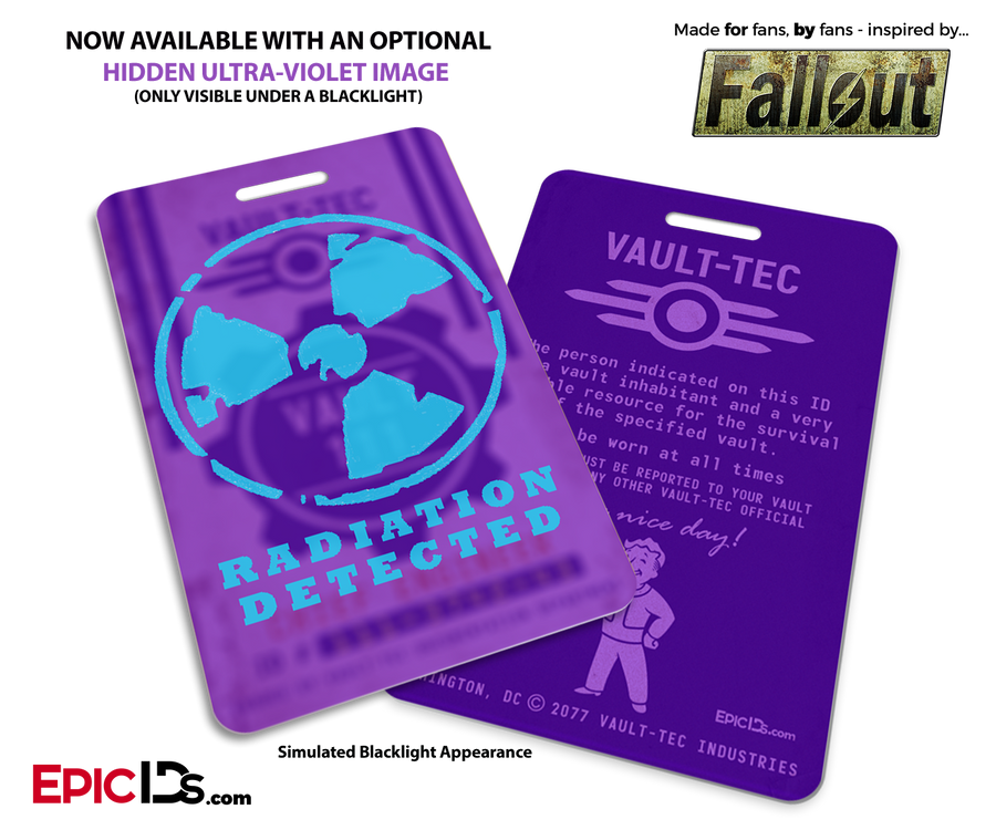 Vault Dweller 'Fallout' Cosplay Vault ID Badge [Personalized]