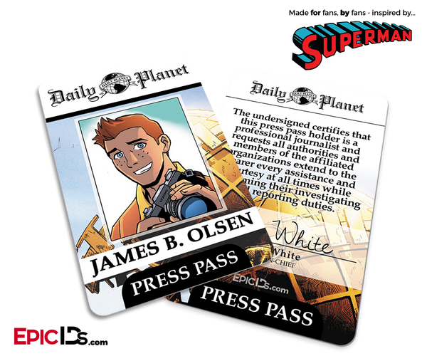 Id Jimm Ids Cosplay Epic Planet Badge - Pass Superman Comic Press Classic Daily