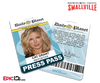 Smallville TV Series Inspired Daily Planet Press Pass - Cat Grant