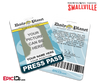 Smallville TV Series Inspired Daily Planet Press Pass [Photo Personalized]