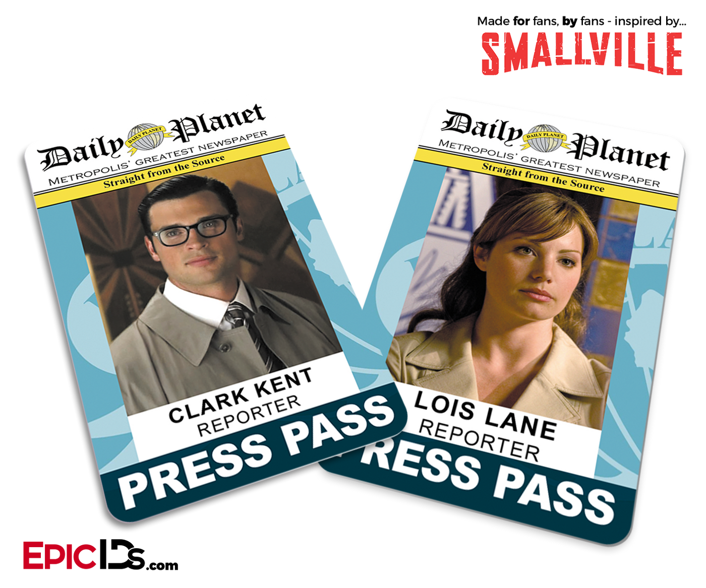 image regarding Lois Lane Press Pass Printable named Epic IDs - Video IDs, Television set Clearly show IDs Other Card Items