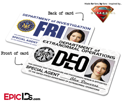 Department of Extranormal Operations (Dual DEO/FBI) 'Supergirl' Special Agent ID - Alex Danvers
