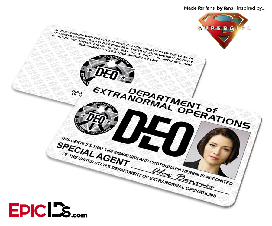 Department of Extranormal Operations (DEO) 'Supergirl' Special Agent ID - Alex Danvers