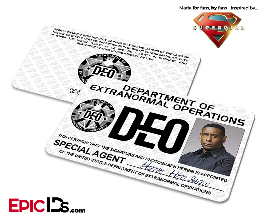 Supergirl TV Series Inspired Department of Extranormal Operations (DEO) Badge - Hank Henshaw