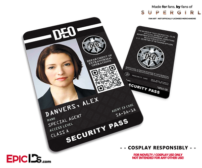 Supergirl TV Series Inspired Department of Extranormal Operations (DEO) Security ID - Alex Danvers