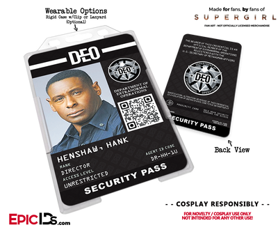 Supergirl TV Series Inspired Department of Extranormal Operations (DEO) Security ID - Hank Henshaw