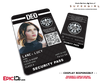 Supergirl TV Series Inspired Department of Extranormal Operations (DEO) Security ID - Lucy Lane