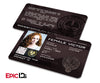 "The Hunger Games Inspired Panem District 10 ""Female Victor"" Identification Card"