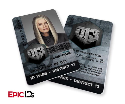 "The Hunger Games Inspired Panem District 13 ""President Coin"" Identification Card"